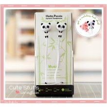 Kawaii Rare Good Friends Hello Panda In-Ear Headphones!