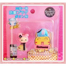 Kawaii Ipod Iphone Ipad Dust Plug Set Data Sentimental Circus Shappo