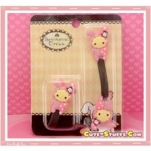 Kawaii Rare 2 PC Cord Holder Sentimental Circus Shappo w/ Button clip