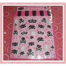 Kawaii Goth Skull Puffy Sticker Set