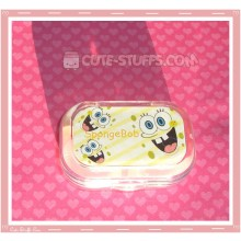 Kawaii Sparkle Travel Lens Case or Trinket Box! - Striped Spongebob Faces