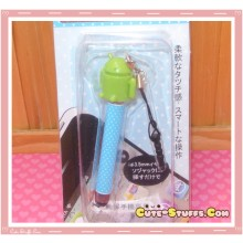 Kawaii Dangle Dust Plug Stylus Touch Pen Green Android