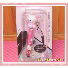 Kawaii Dangle Dust Plug Stylus Touch Pen Hello Kitty Pink