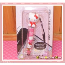 Kawaii Dangle Dust Plug Stylus Touch Pen Hello Kitty Red