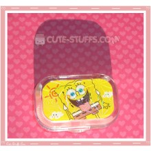 Kawaii Sparkle Travel Lens Case or Trinket Box! - Goofy Spongebob