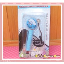 Kawaii Dangle Dust Plug Stylus Touch Pen Smurf