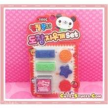 Kawaii Stamp Set! Red Panda 6pc