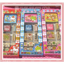 Kawaii Rare 11pc Stamp Set