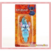 Kawaii Lilo & Stitch Rare Moveable Phone Charm w/ Plug! Blue