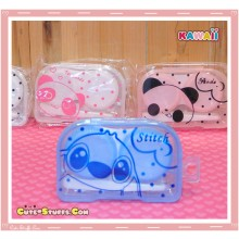 Kawaii Translucent Travel Lens Case or Trinket Box! - Sweet Stitch Blue