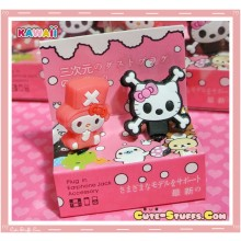 Kawaii 3.5mm Hello Kitty Punk Dust Plug Set Duo
