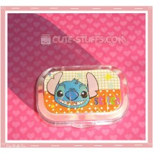 Kawaii Sparkle Travel Lens Case or Trinket Box! - Stitch Face Dots