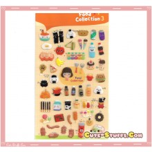 Kawaii 51pc Food Collection Epoxy 3D Sticker Set!