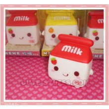 Kawaii Milk Window Cling Strawberry