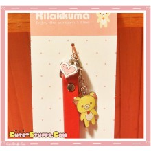 Kawaii Korilakkuma Heart Alloy Charms w/ Wrist strap! Red
