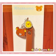 Kawaii Rilakkuma & Kiiroitori Alloy Charms w/ Wrist strap! Brown