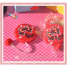 Kawaii Plush Retractable Tape Measure Ruler - Red Bow