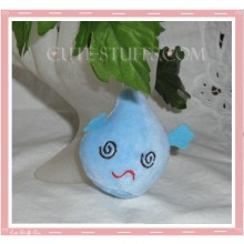 Mini Plush Kawaii Blob Phone Strap Blue Swirl