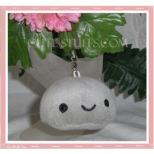 Mini Plush Kawaii Blob Phone Strap Grey