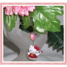 Kawaii Rare Flashing Hello Kitty Phone Charm! Translucent Rubber