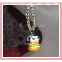Tare Panda Hamburger Phone Strap with Beads