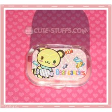 Kawaii Sparkle Travel Lens Case or Trinket Box! - Tenorikuma Candy Dots