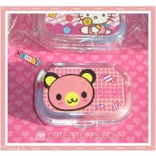 Kawaii Sparkle Travel Lens Case or Trinket Box! - Tenorikuma Candy Grid