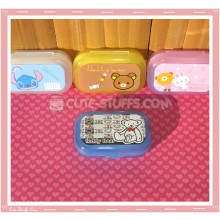 Kawaii Pastel Travel Lens Case or Trinket Box! - Teddy Bear