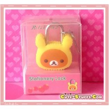 Rilakkuma w/ Melody Ears Kawaii Diary Lock & Keys!