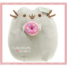 Kawaii Pusheen Plush with Donut!