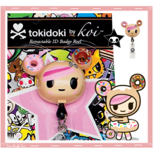 Kawaii Rare Koi Tokidoki Retractable ID Badge Reel! Donutella!