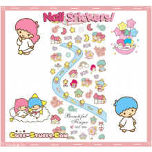 Rare Kawaii Nail Stickers! Little Twin Stars Advanced Design!
