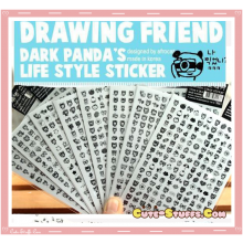 Kawaii Transparent Mini Character Sticker Set! 2 Pages!