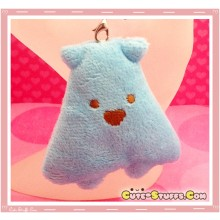 Kawaii Unique Plush Triangle Phone Strap or Keychain Charm! Blue!