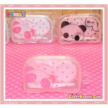 Kawaii Translucent Travel Lens Case or Trinket Box! - Tarepanda Pink