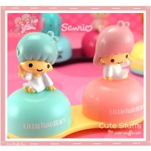 Kawaii Little Twin Stars Charm Contact Lens Case - Kiki & Lala
