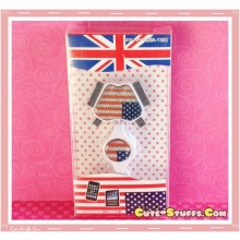 Kawaii 4 in 1 Universal Mobile Phone USB Flashing Data Cable! US Flag