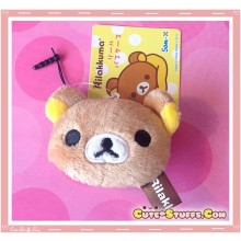 Kawaii RARE Plush Rilakkuma Phone Strap w/ Dust Plug!