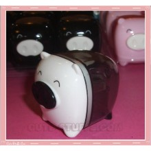 Kawaii Monokuro Boo Pig Pencil Sharpener - White