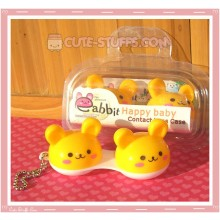 Kawaii Animal Series 1 Capsule Contact Lense Case! - Yellow Bunny