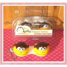 Kawaii Animal Series 1 Capsule Contact Lense Case! - Yellow Monkey