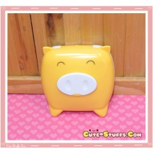Kawaii Monokuro Boo Pig Contact Lens Case - Yellow