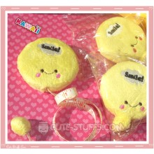 Kawaii Plush Retractable Tape Measure Ruler - Yellow Smile