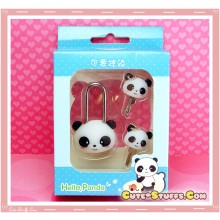 Kawaii Rare Discontinued Medium Lock & Matching Keys - Panda!