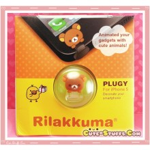Kawaii Rilakkuma iPhone 5 Dust Plug! Very Rare!