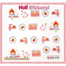 Rare Kawaii Nail Stickers! Riding Hood!