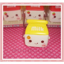Kawaii Milk Window Cling Orange